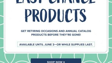 Stampin' Up! Last Chance List - Chic n Scratch