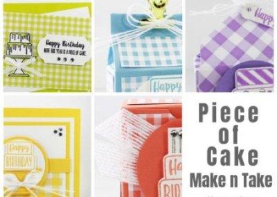 Piece of Cake Make n Take Class Packet