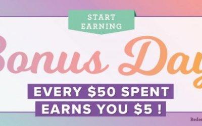Bonus Days in July