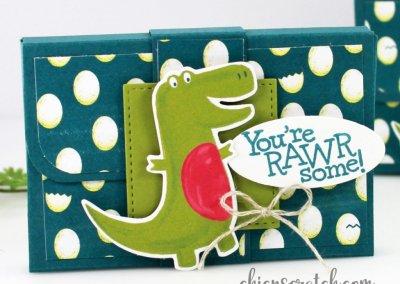 Gum Holder Box Featuring Dino Days