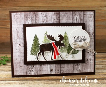 Merry Moose Fun Fold Card