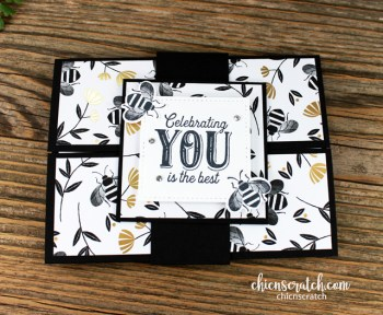 Honey Bee Gatefold Card with Belly Band