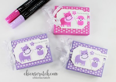 Box Template 30 Hippo Happiness Box
