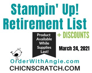 Stampin' Up! Retiring List March 24th