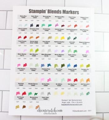 Stampin' Blends Marker Chart 2021