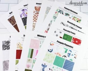 Holiday Catalog Paper Charts