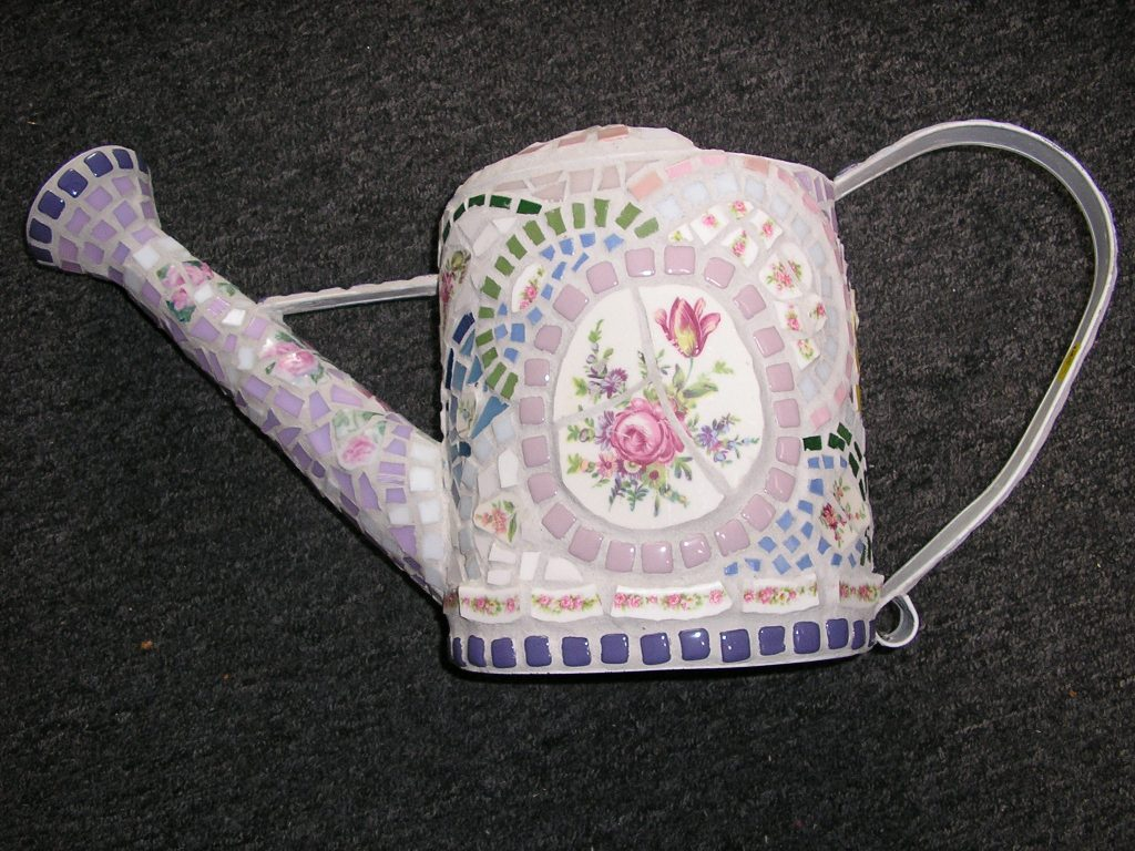 Carole Cooke-Sheller, Watering Can, Mosaic, 12 inches, $170