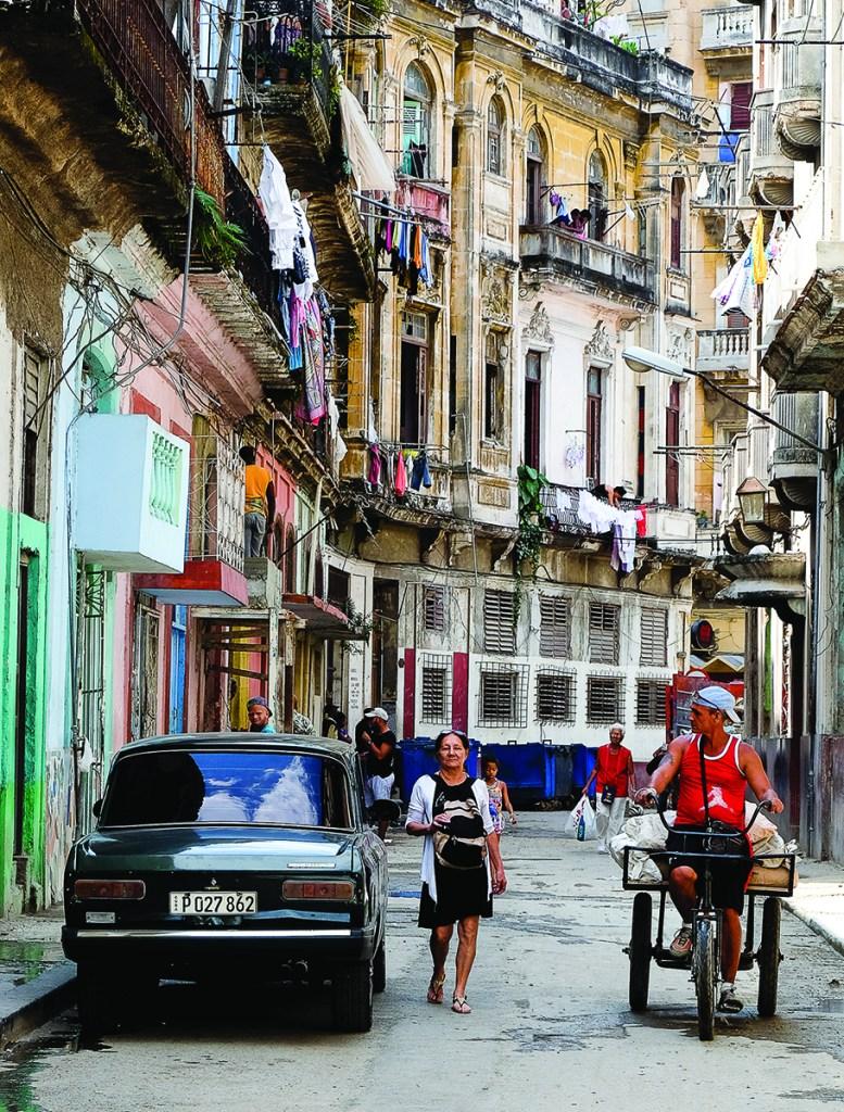 Michael Goloff, Neighborhood Calle Aguacate, Havana Cuba, 2017, giclée fine art print, 24x 26 inches, $450
