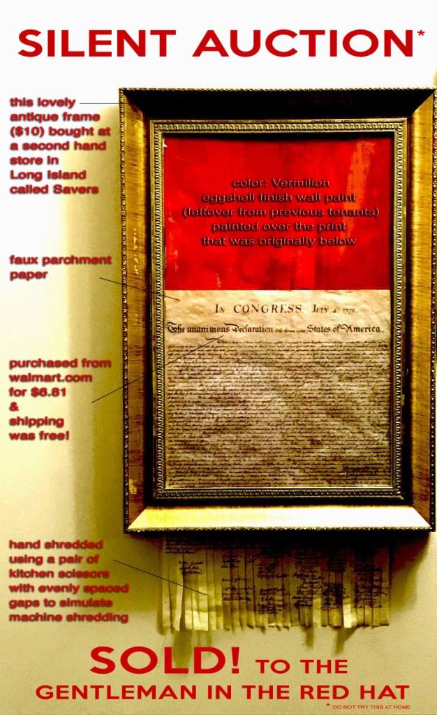 Joe Poon, Silent Auction (commemorative poster), 2018