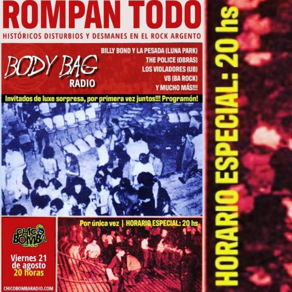 BODY BAG 2020. PROGRAMA 12 » ROMPAN TODO»