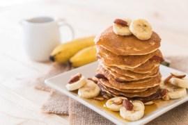 Panquecas de banana super saudáveis