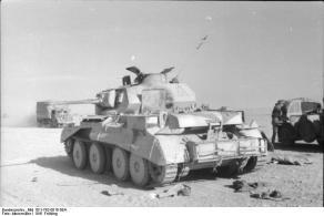 Nordafrika, zerstörter englischer Panzer