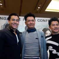 Longines Ambassadors of Elegance Aaron Kwok and Eddie Peng in Singapore for COLD WAR 2 Singapore Star Tour