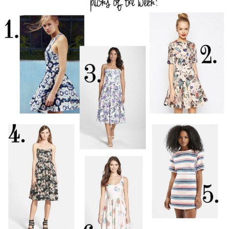 SHOPPING PICKS OF THE WEEK : STRUCTURED SUMMER DRESSES