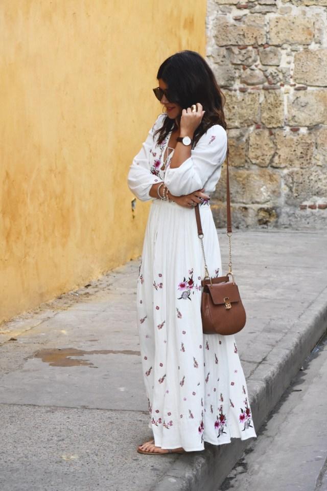 Chicwish white maxi dress