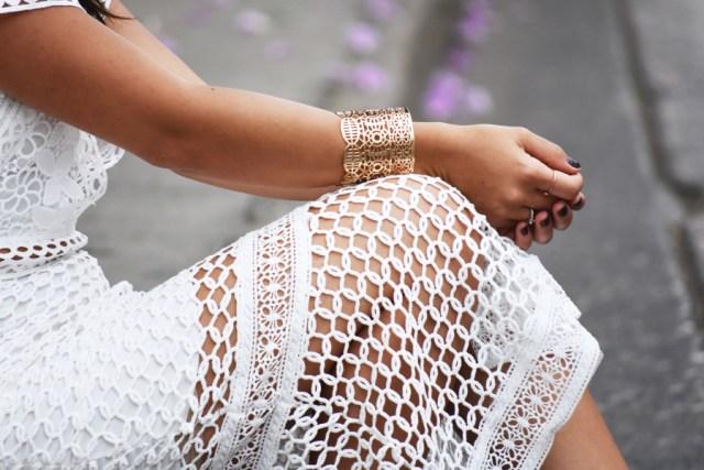 Chicwish white midi skirt