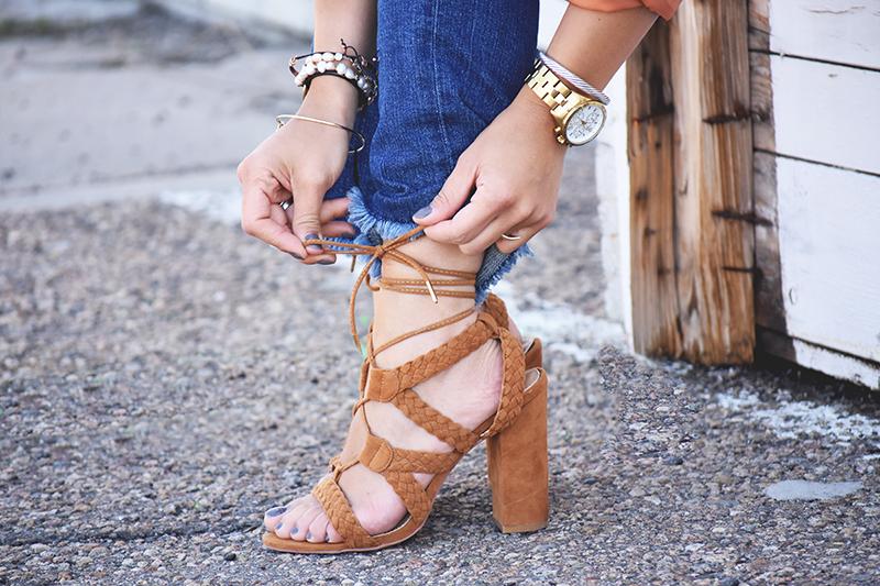 Lace up heels by Public Desire