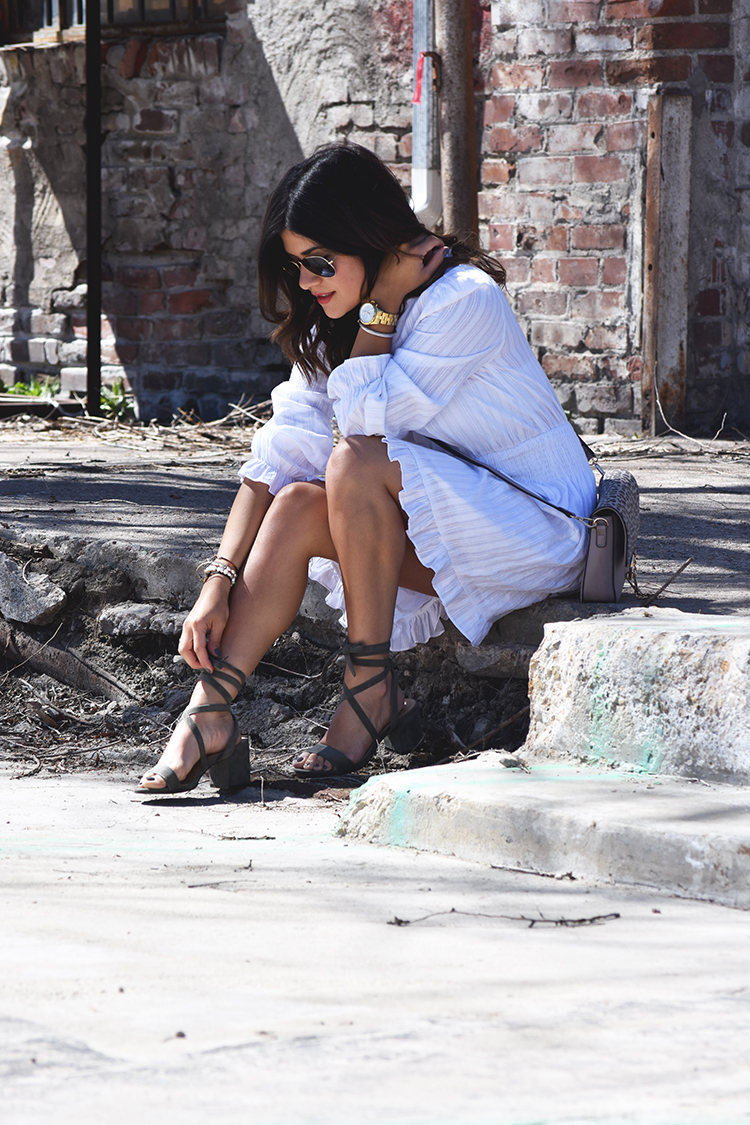 Look of the day- chicwish white dress