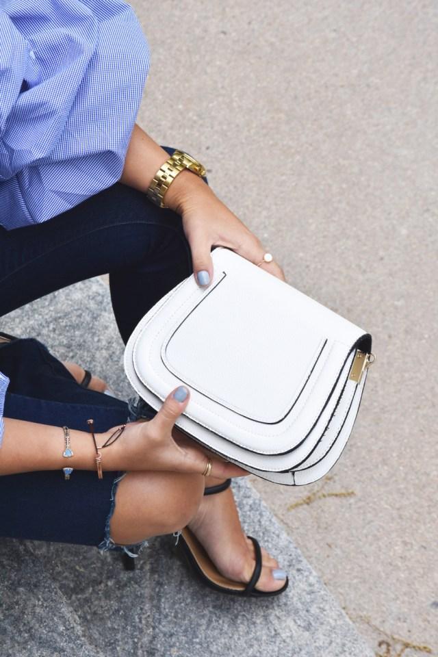 Solesociaty white satchel