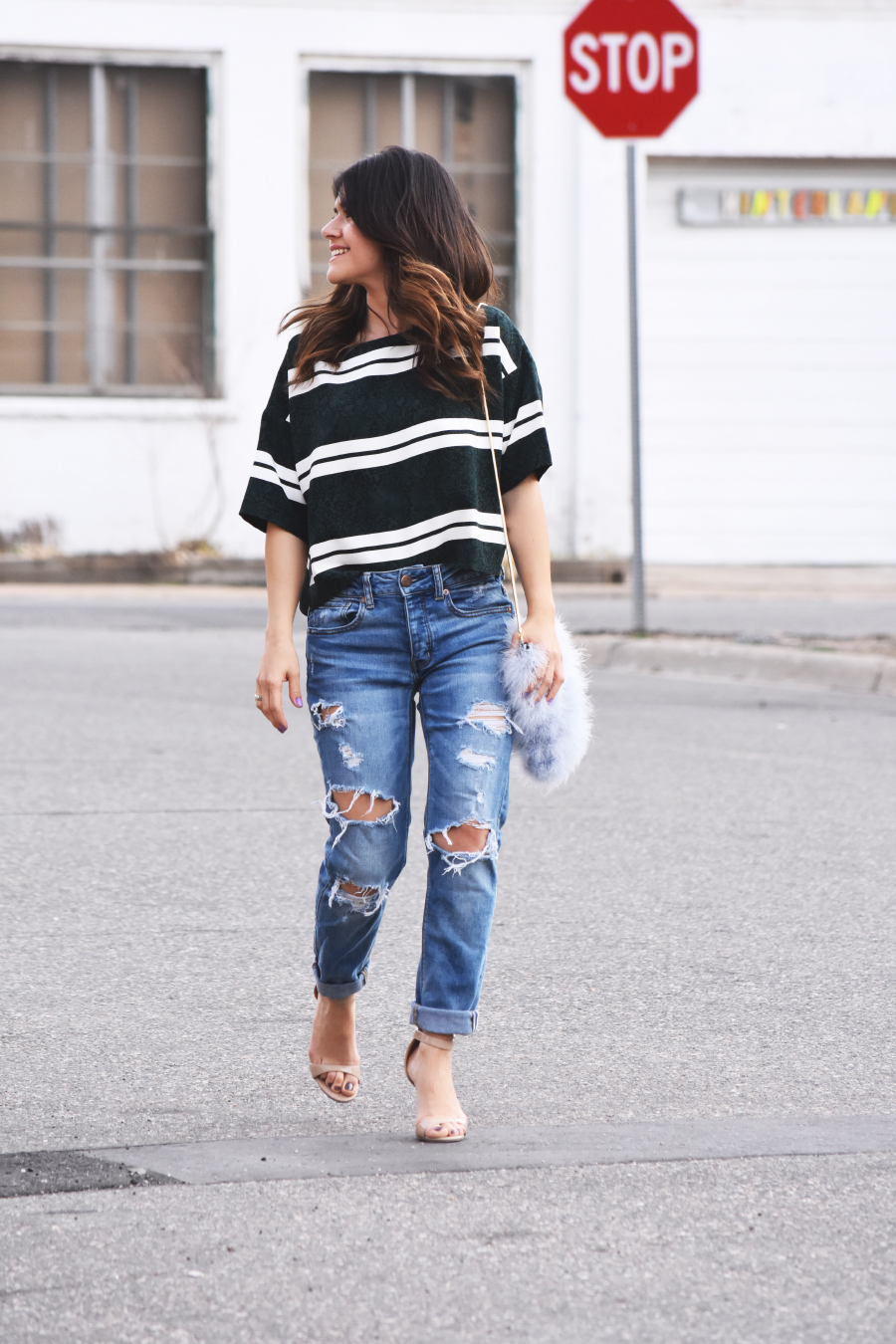 look of the day- jeans and crop top