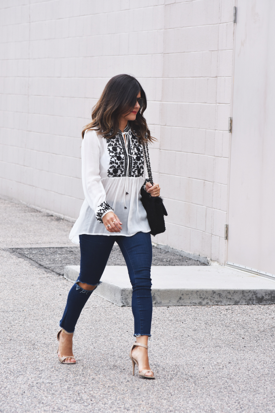 ootd ripped jeans