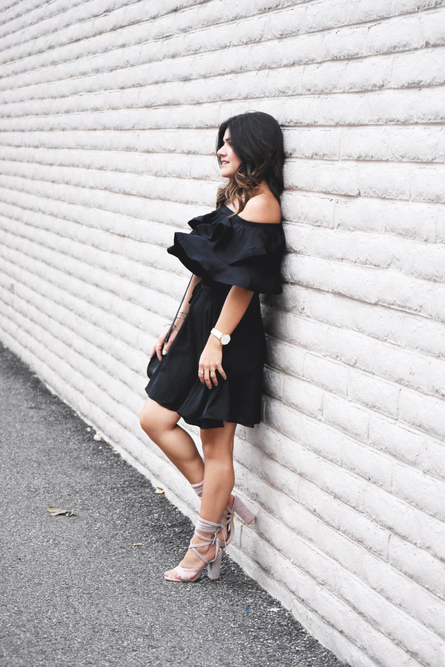 A fresh take on the little black dress