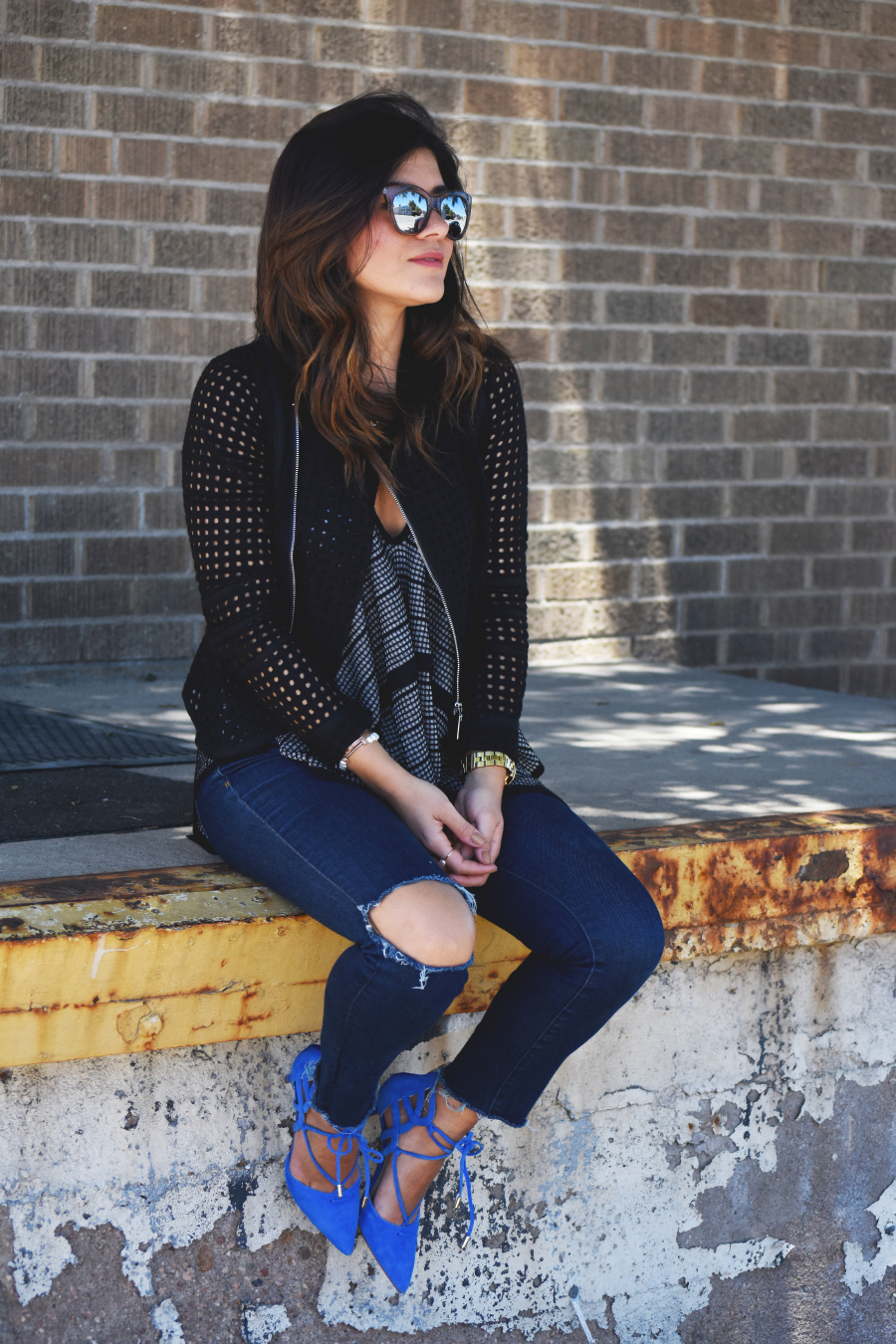 Madewell ripped skinny high waisted jeans