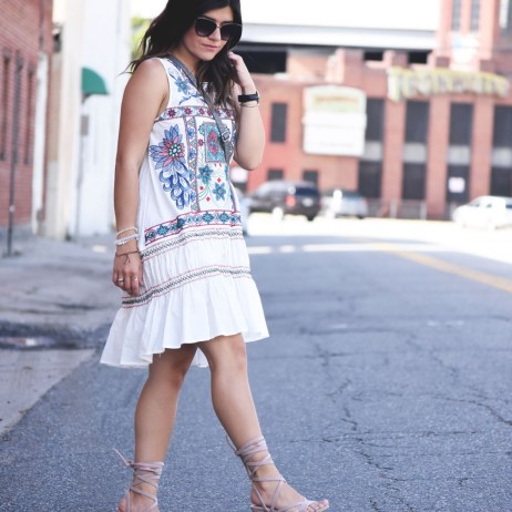 BOHO RUFFLED SUMMER DRESS AND NORDSTROM GIVEAWAY