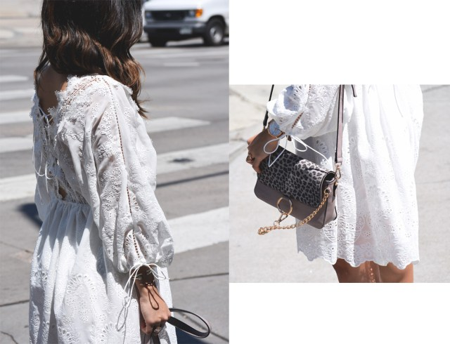VIPME white eye let dress and Mellow handbag world grey bag.