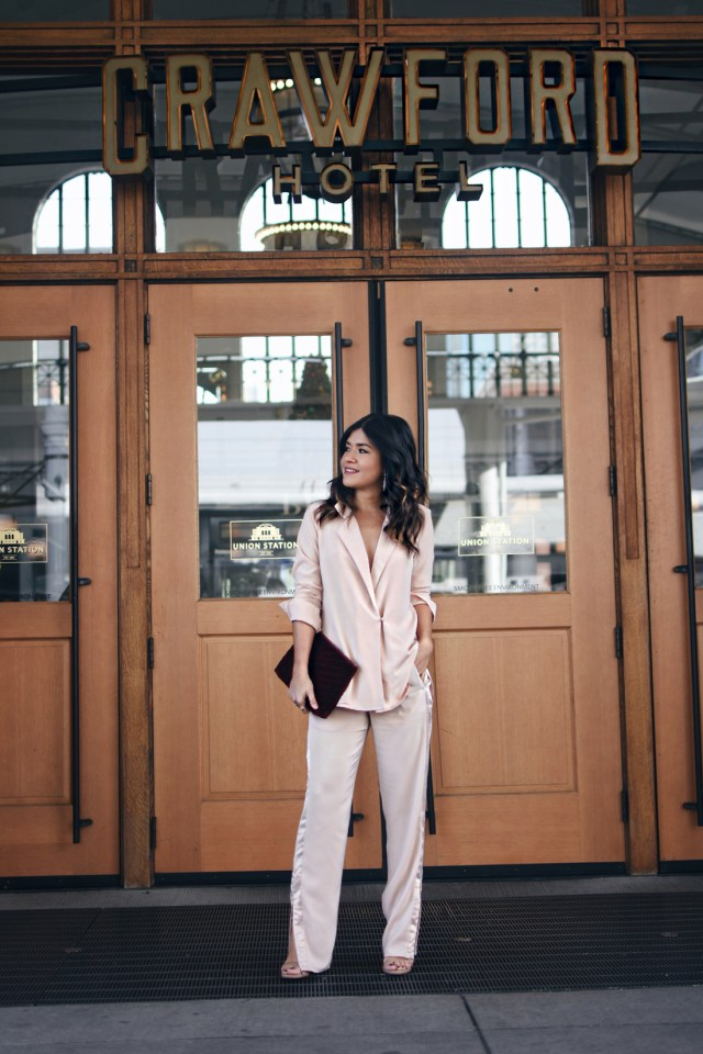Carolina Hellal of Chic Talk wearing the H&M holiday collection