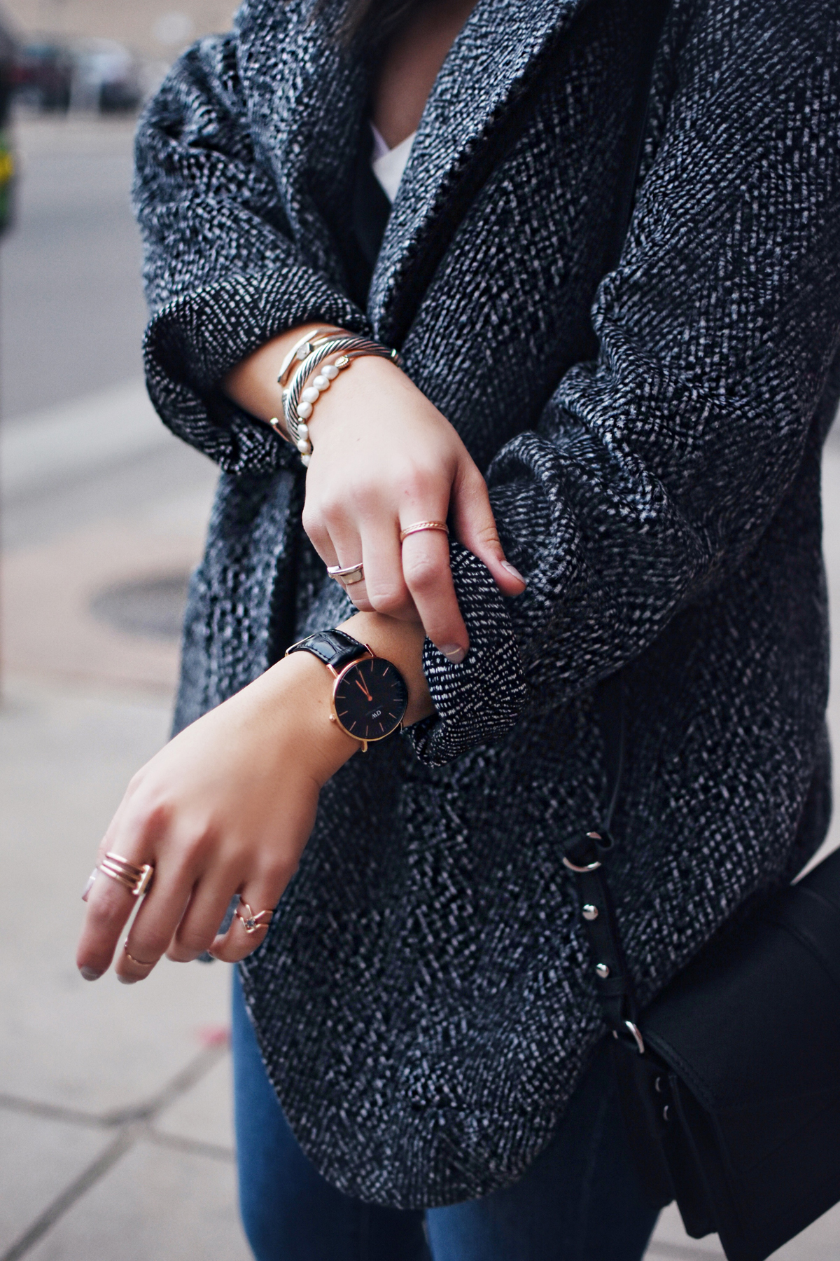 Shein Jacket and Daniel Wellington watch
