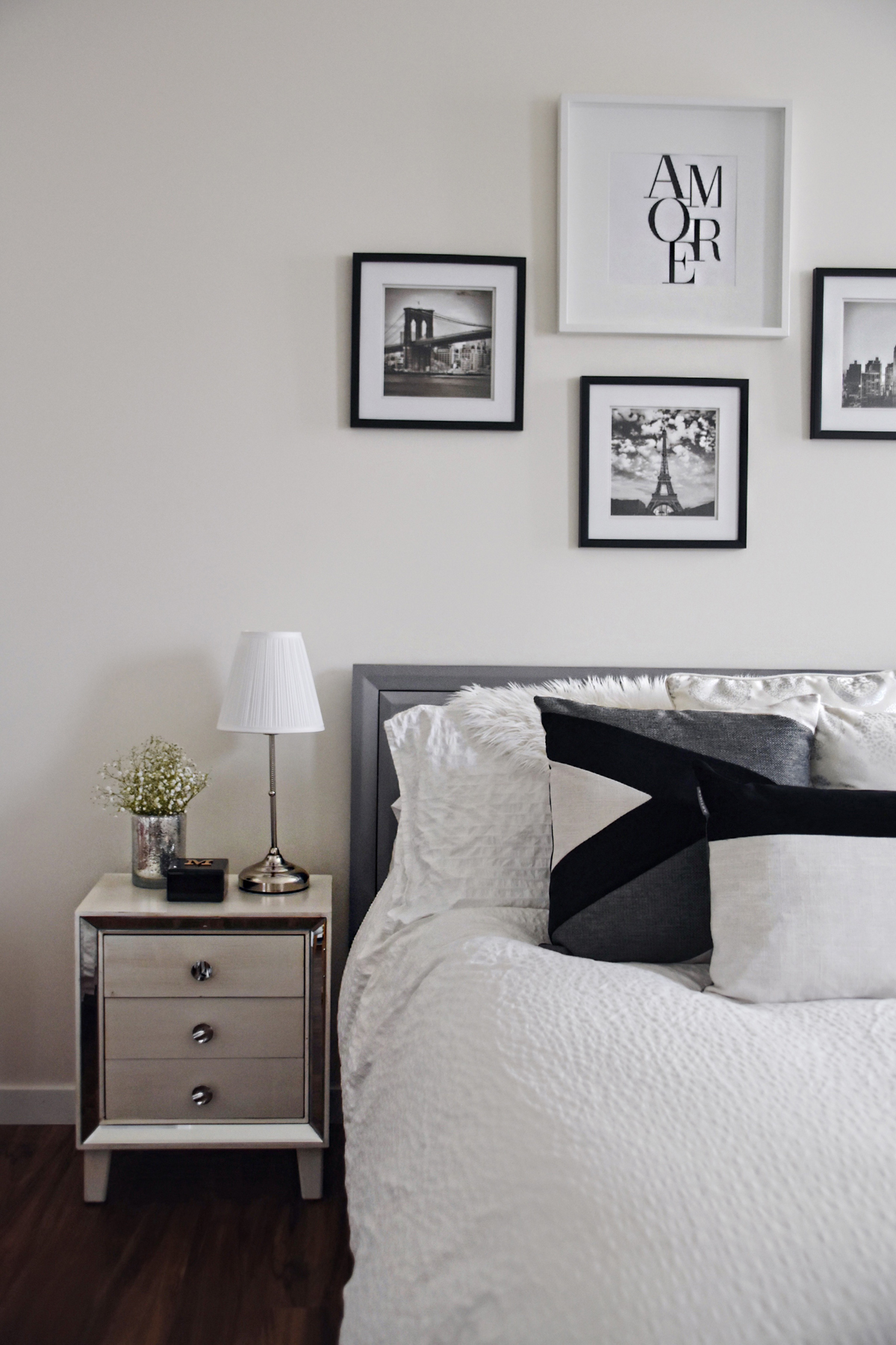 Bedroom decor inspiration with Article's Velu pillow collection, and the Lanna Throw