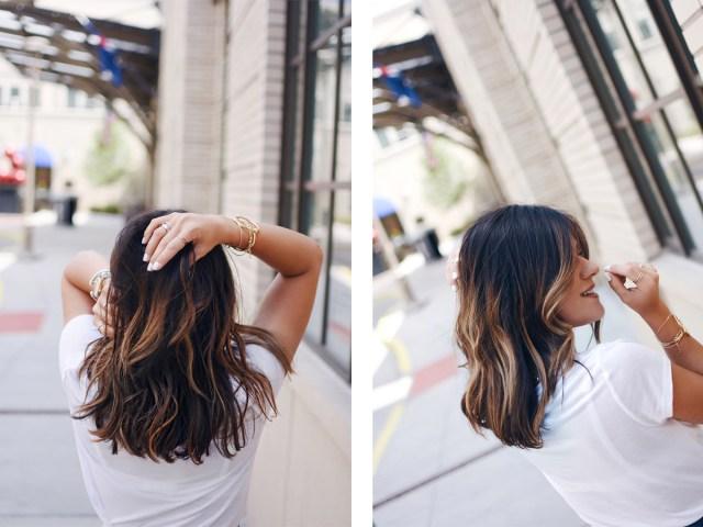 Carolina Hellal's hair styled by Vida Salon in Denver