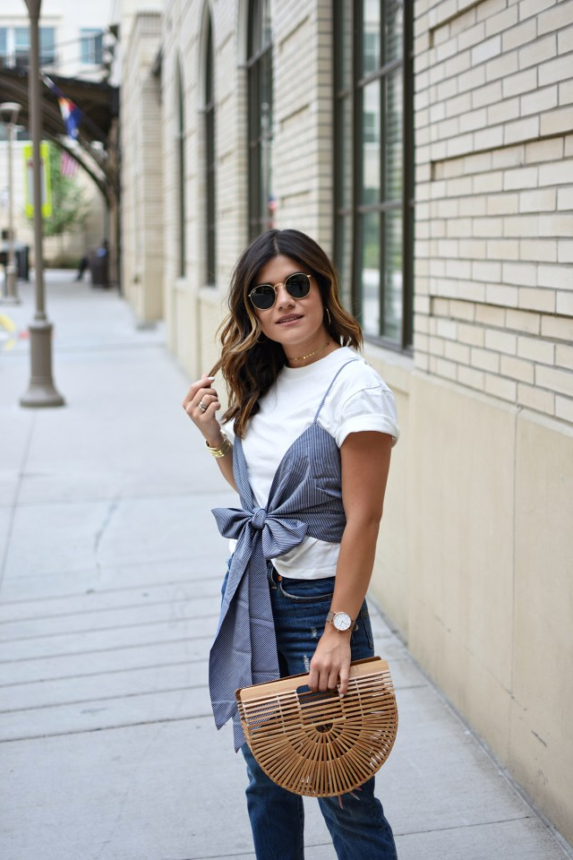 Nordstrom anniversary sale 2017. Carolina Hellal of Chic Talk wearing a Chicwish top and levi's 501 jeans