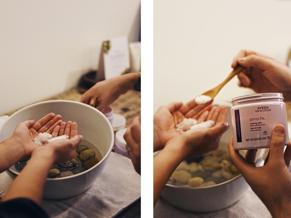 Aveda Stress fix hand massage