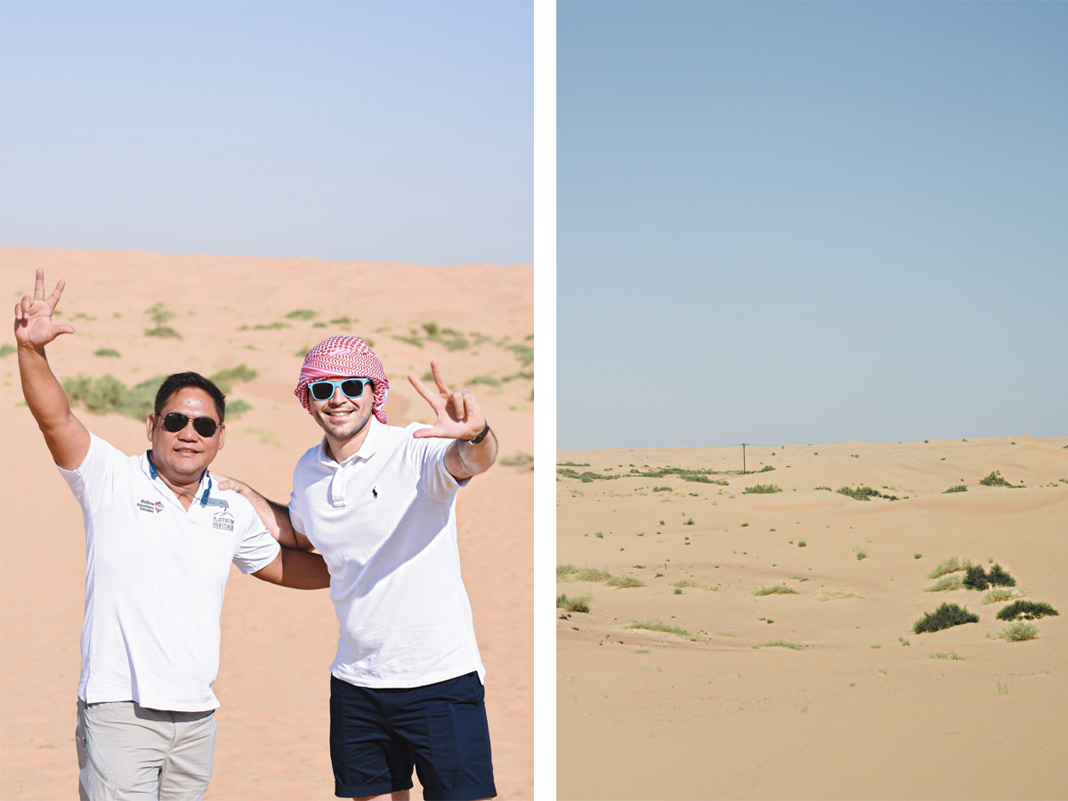 Exploring Dubai with Nudwear. Empty quarter desert in Dubai