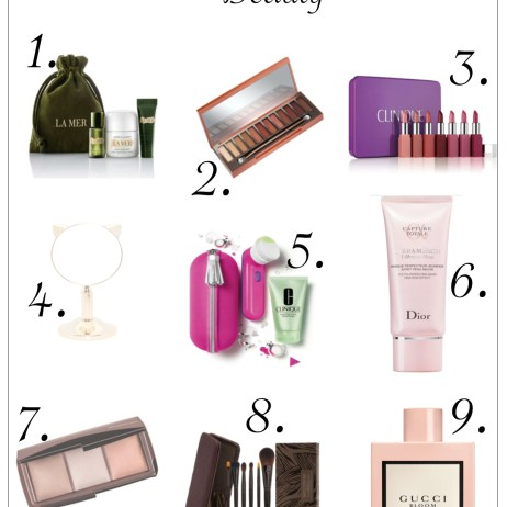 HOLIDAY GUIDE 2017: BEAUTY GIFTS FOR HER