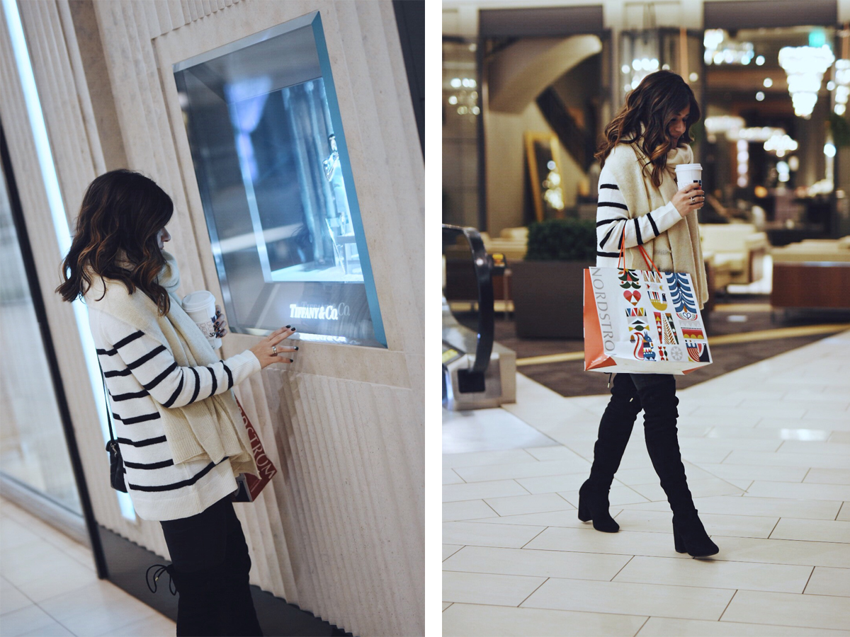 Carolina Hellal of CHIC TALK doing holiday shopping at Cherry Creek Shopping Center in Denver