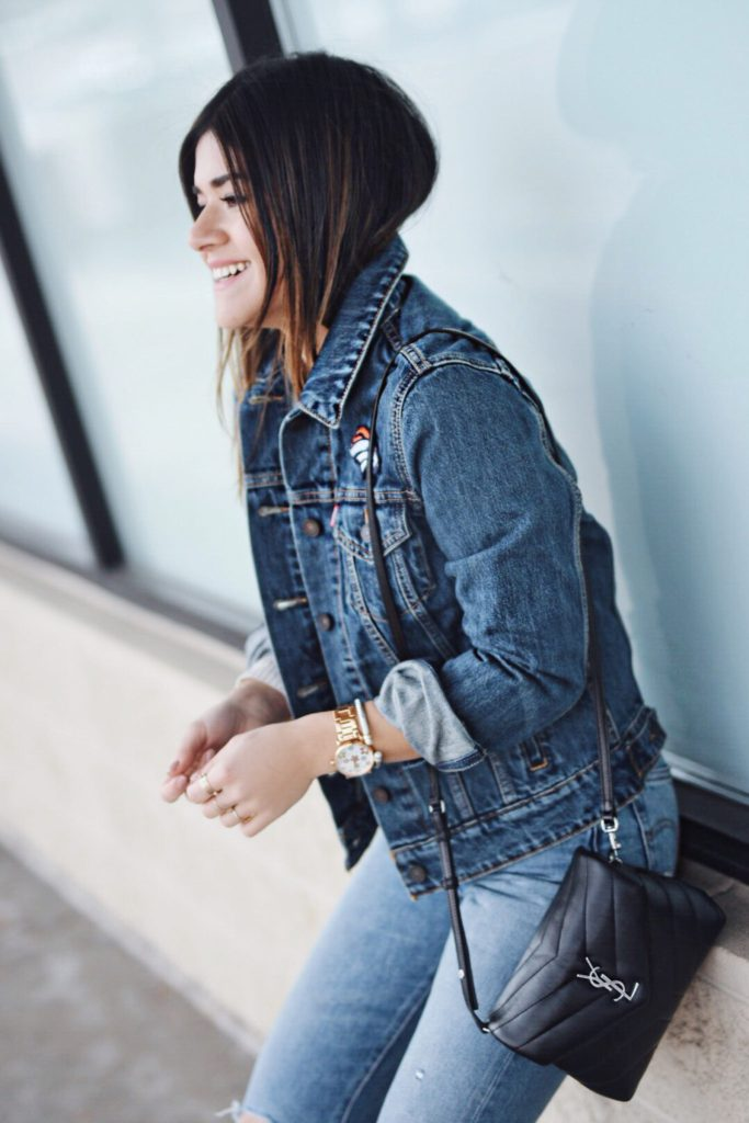 STYLING A LEVI'S DENVER BRONCOS  DENIM JACKET