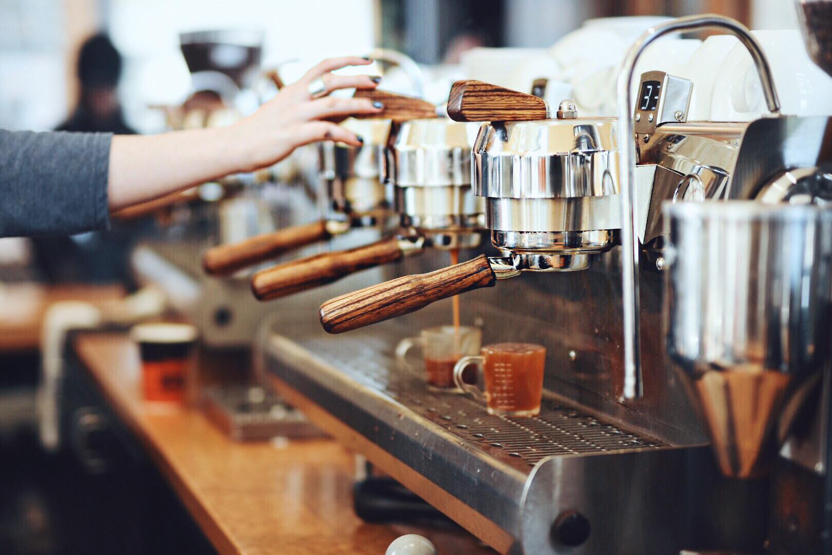 PigTrain Espresso machine closeup
