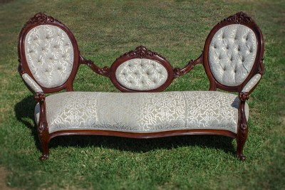 Antique Deep Button Settee