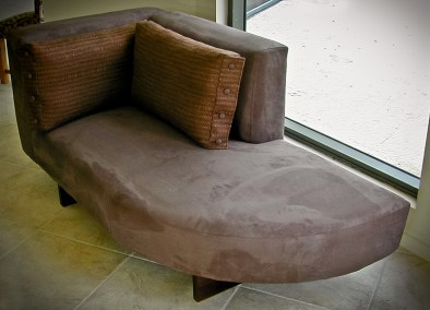 Custom Built Chocolate Chaise
