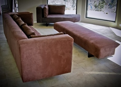 Custom Built Chocolate Lounge Suite