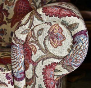 Tapestry Arm Upholstery Detail