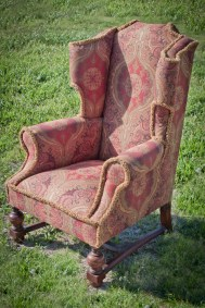 Vintage Boho Wingback Chair