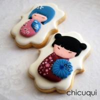 Muñecas chinas, en galletas decoradas
