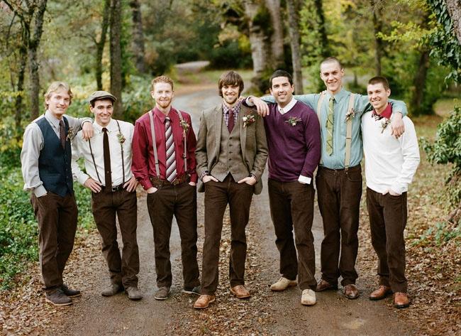 Image result for mismatched groomsmen