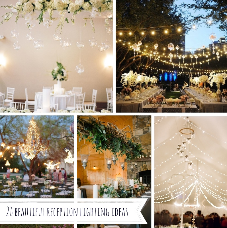 beautiful reception lighting ideas