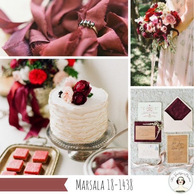 Wedding Inspiration Board in Marsala