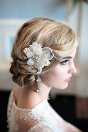 elegant art deco bridal hair